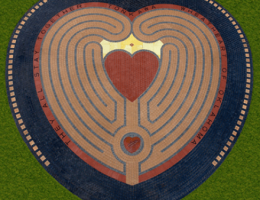Heart in the Park Labyrinth